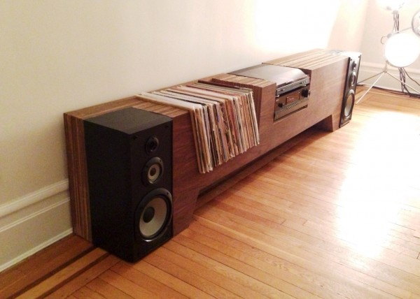 custom cardboard vinyl hifi console dj rooms. Black Bedroom Furniture Sets. Home Design Ideas